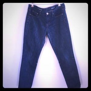 J Crew Toothpick Skinny Dark Wash Jeans